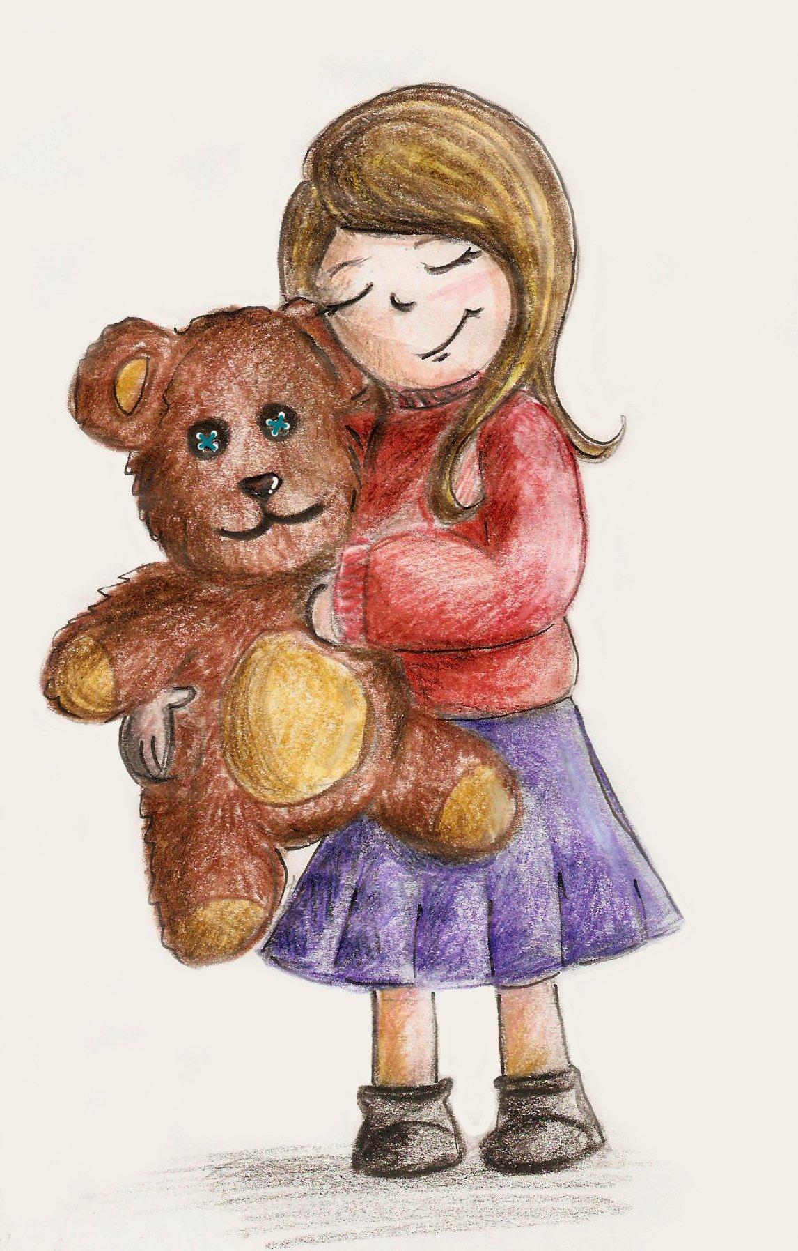 Bimba con orso Claudia Fachinetti