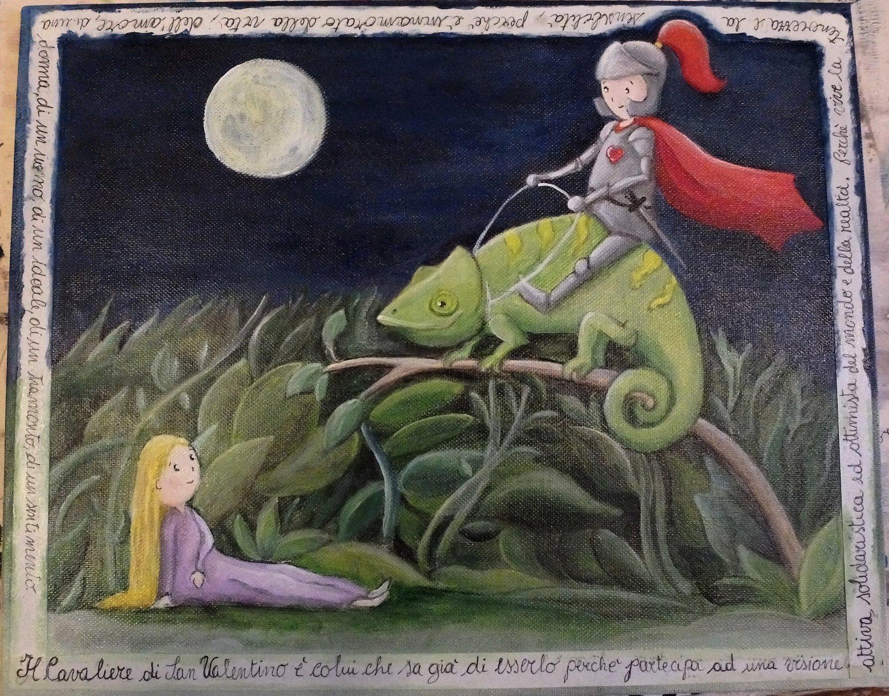 Cavaliere camaleonte donna Claudia Fachinetti